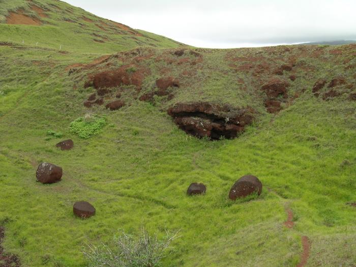 site Te Puna Pau cratère
