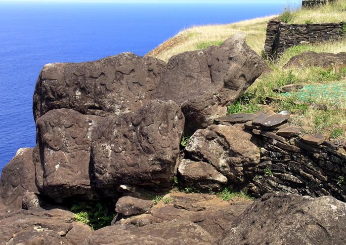 pétroglyphes  site Orongo