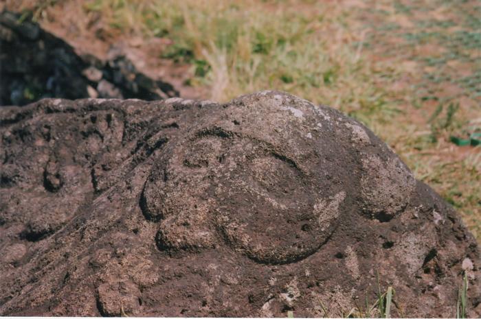 pétroglyphe représentant le dieu Make Make