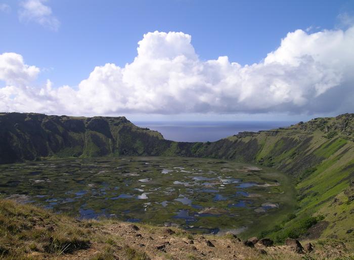 lac d'eau douce du Rano Kau