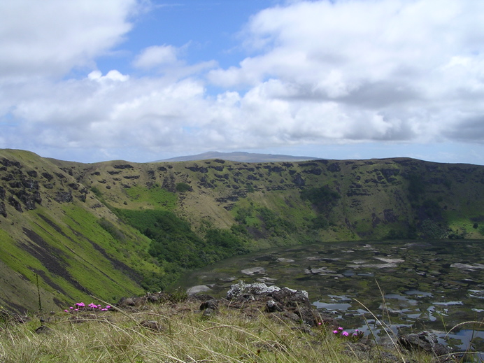 flancs du cratère Rano Kau
