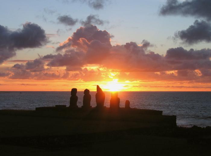 Rapa Nui le coucher de soleil