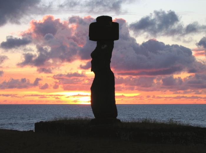moai de l'ahu Ko Te Riku
