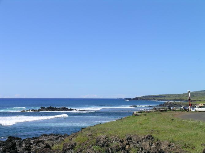 bord de côte Hanga Roa