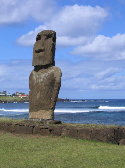 moai sur l'ahu Tautira