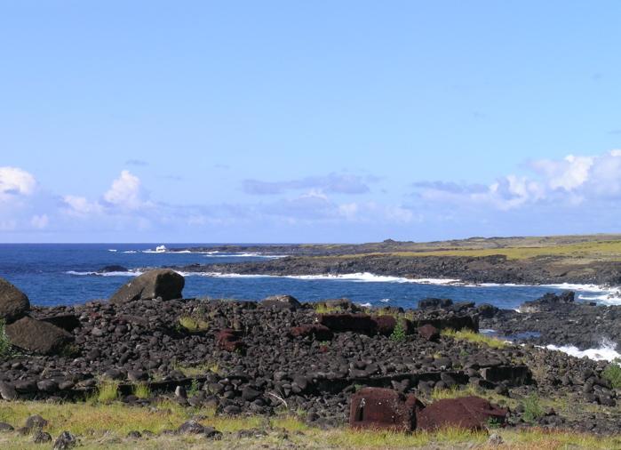 Rapa Nui : ahu Akahanga