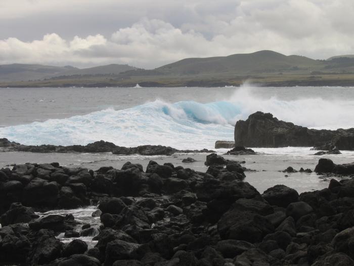 bord de côte du site Tongariki