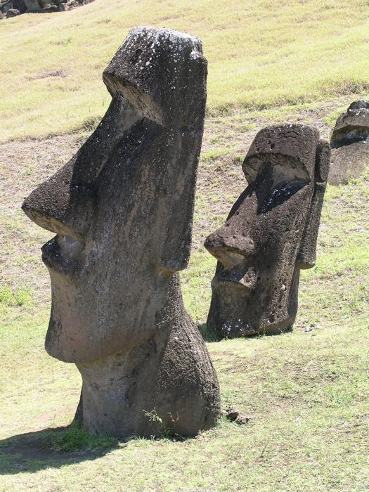 les moai du Rano Raraku