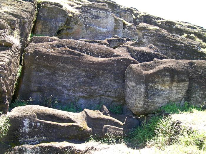 moai en cours de fabrication