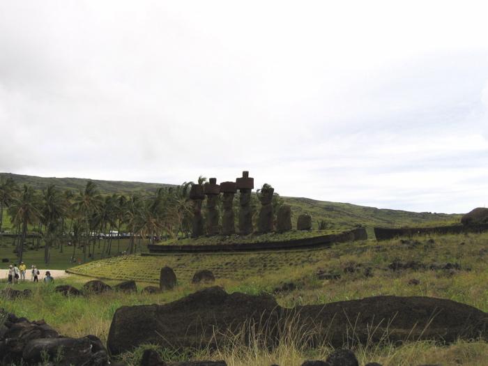 Rapa Nui : site d'Anakena