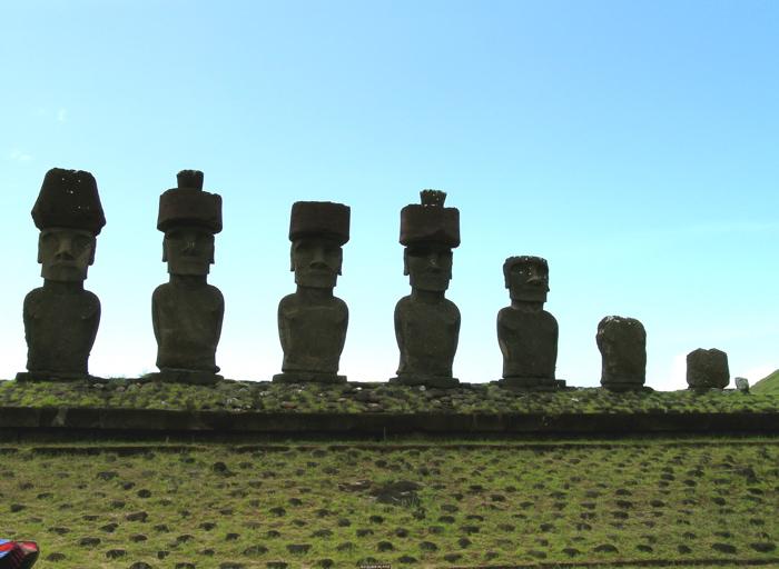 moai de l'ahu Nau Nau