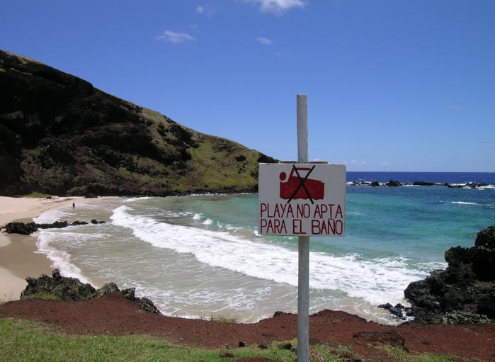 Rapa Nui : plage d'Ovahe
