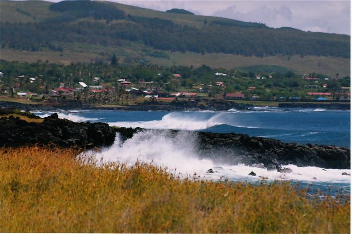 bord de côte à l'ouset de Hanga Roa