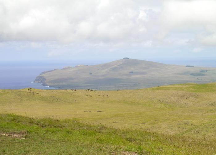 vue depuis le point le plus haut de Rapa Nui
