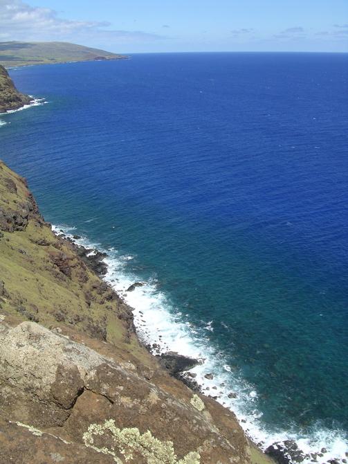 le bleu de l'océan Pacifique