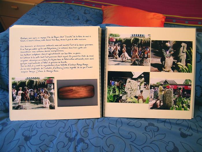 dernière page de mon carnet de voyage sur lÎle de Pâques